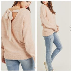 NEW! TIE BACK SWEATER